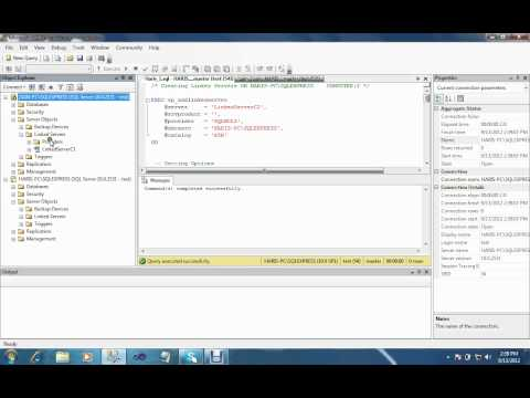 Part4_Distributed Database (Create Linked Server b/w two pc's ).avi