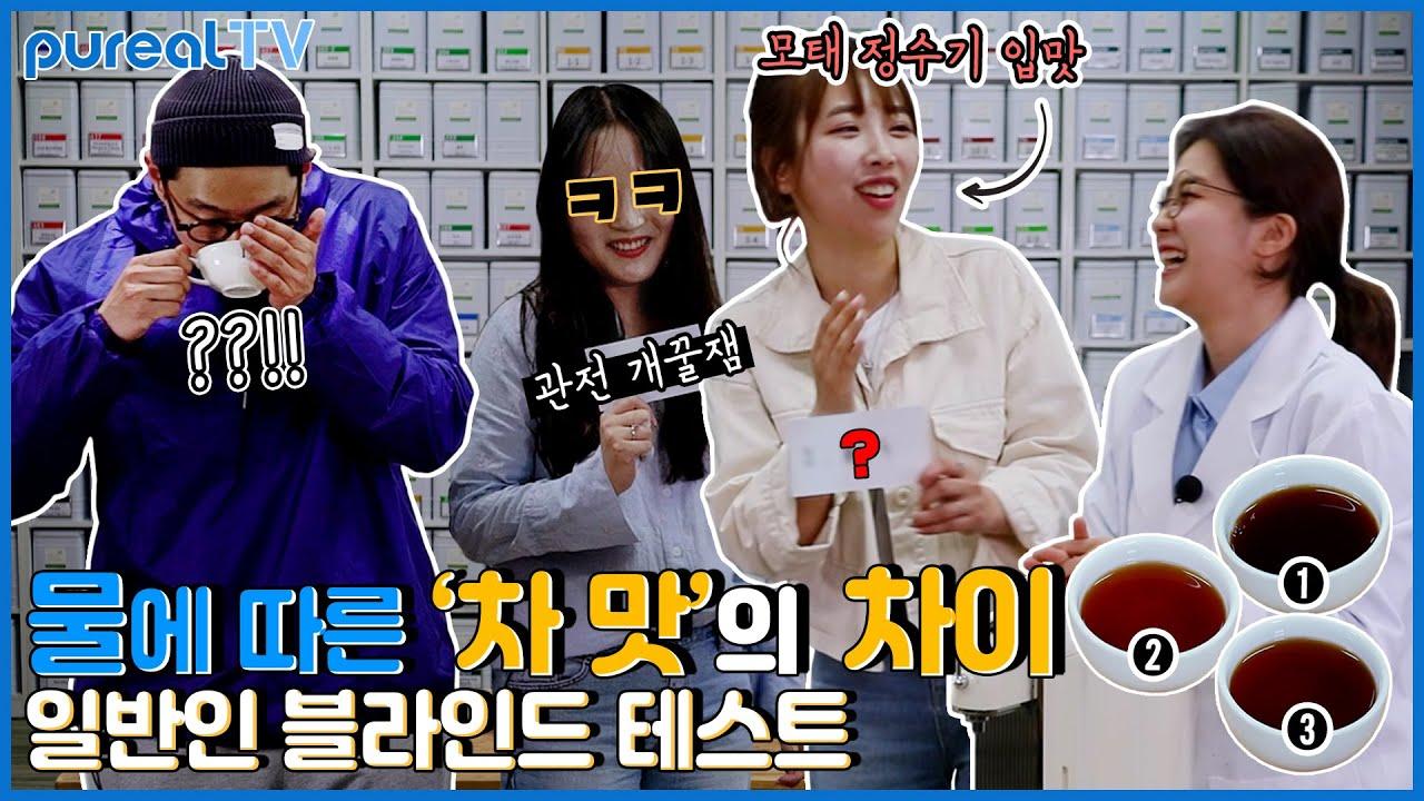 [pureal TV] 일반인 블라인드 테스트│물에 따른 '차 맛'의 차이 EP.23