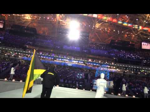 Jamaica Bobsled Sochi Opening Ceremony Marching In