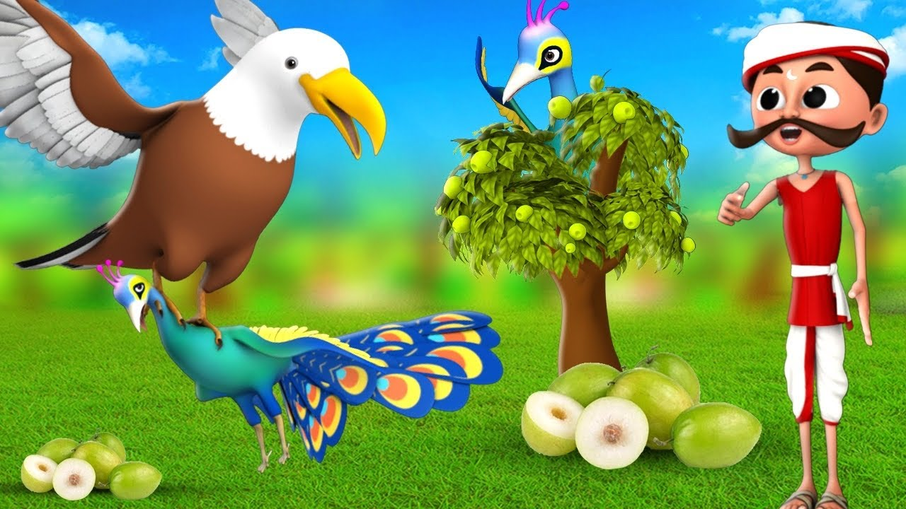 मूर्ख मोर - Foolish Peacock Story 3D Animated Hindi Moral Stories | JOJO TV Hindi Comedy Videos