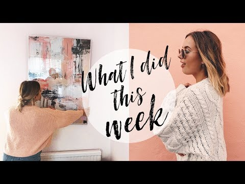 WHAT I DID THIS WEEK + HOME HAUL | Hello October Vlog AD