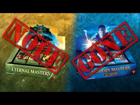 DISCONTINUED: Modern Masters & Eternal Masters + WOTC Explains Why Iconic Failed