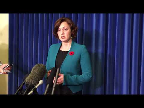 Energy Minister Michelle Mungall on Nov. 1, 2017