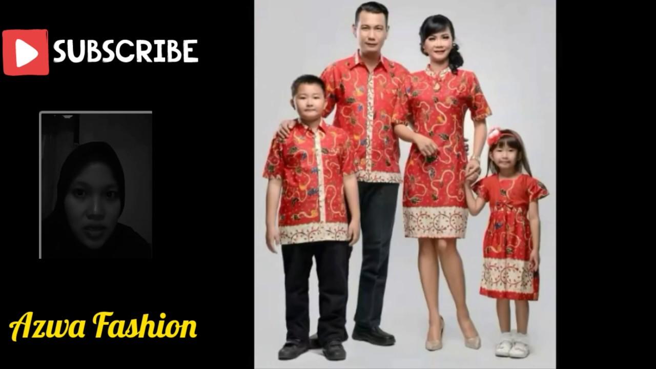 Tren Model Baju Batik Couple Keluarga Untuk Lebaran 2019