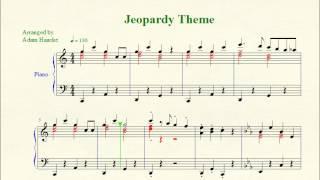 "Piano Sheet Music - ""Jeopardy"" Theme"