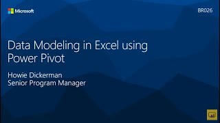 Data Modeling in Excel using Power Pivot