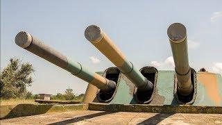 Работа орудий и башни 30-й береговой батареи, Fort Maxim Gorky I