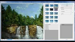 How to add a water color painting effect in Photoshop