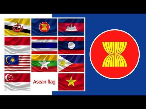 ธงอาเซียน 10 ประเทศ : 10 ASEAN Flag