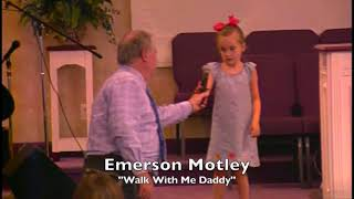 "Poem - ""Walk with me Daddy"" read by Emerson Motley"