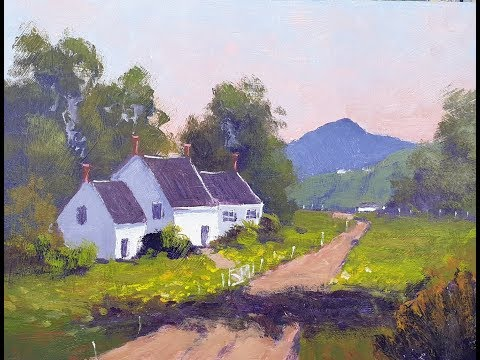 """Learn To Paint TV E73 """"Quiet Life In Country"""" Acrylic Painting Beginners Tutorial Landscape"""