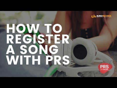 How To Register A Song With PRS for Music | Beginners Tutorial