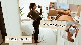 VLOG | Come To My Dr. W/Me. 33 Week Check Up!