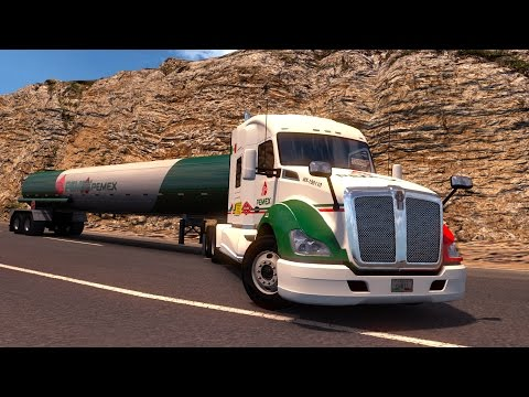 ATS Kenworth T680 Con gasolina Pemex! Ensenada - Mexicali Baja California American Truck Simulator