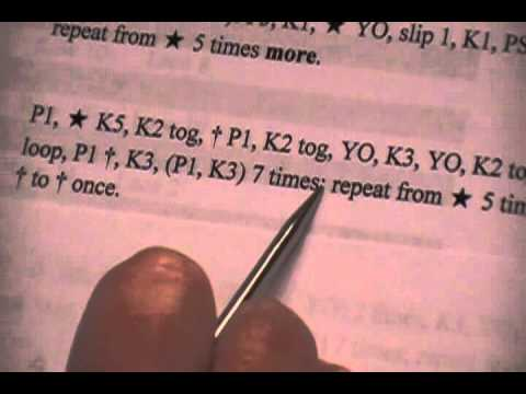 Reading Knit Instructions Part 1 Youtube