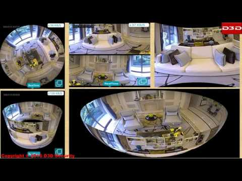 Installation Video Of D3D Panoramic 360 Wireless IP Camera- D1005W