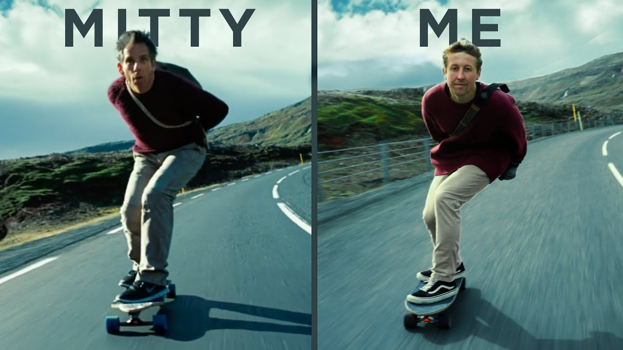 Recreating the Walter Mitty Longboard Scene in Iceland!