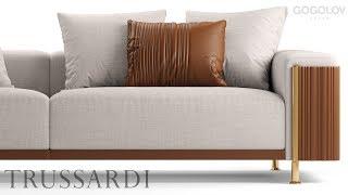 "№141. Sofa modeling "" Trusardi DEVEN SOFA "" Autodesk 3ds Max & marvelous designer"