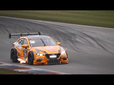 MARC Mazda 3 V8 5.0 PURE Engine Sound & Huge Flames! - YouTube