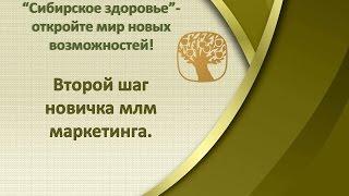"""Второй шаг новичка.а млм маркетинг С чего начать свой бизнес в """"Сибирском здоровье""""?"""