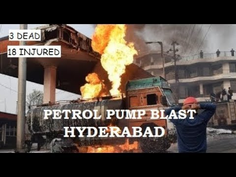 Hyderabad Petrol Pump Fire | Huge Blast | Very Dangerous Explosion | Petrol Bunk Blast