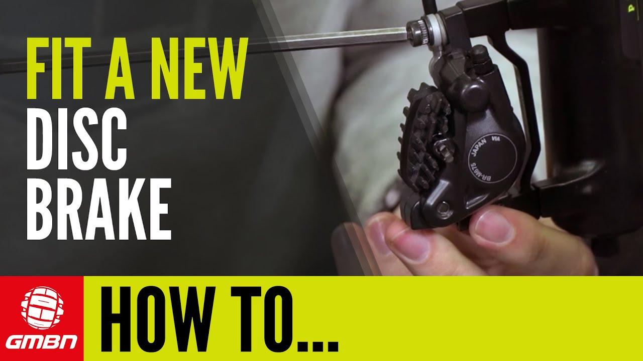 How To Fit A Disc Brake Disc Brake Rotor Mountain Bike Maintenance
