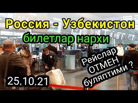 Россия - Узбекистон рейслар ва билетлар нархи. октябрь/ноябрь