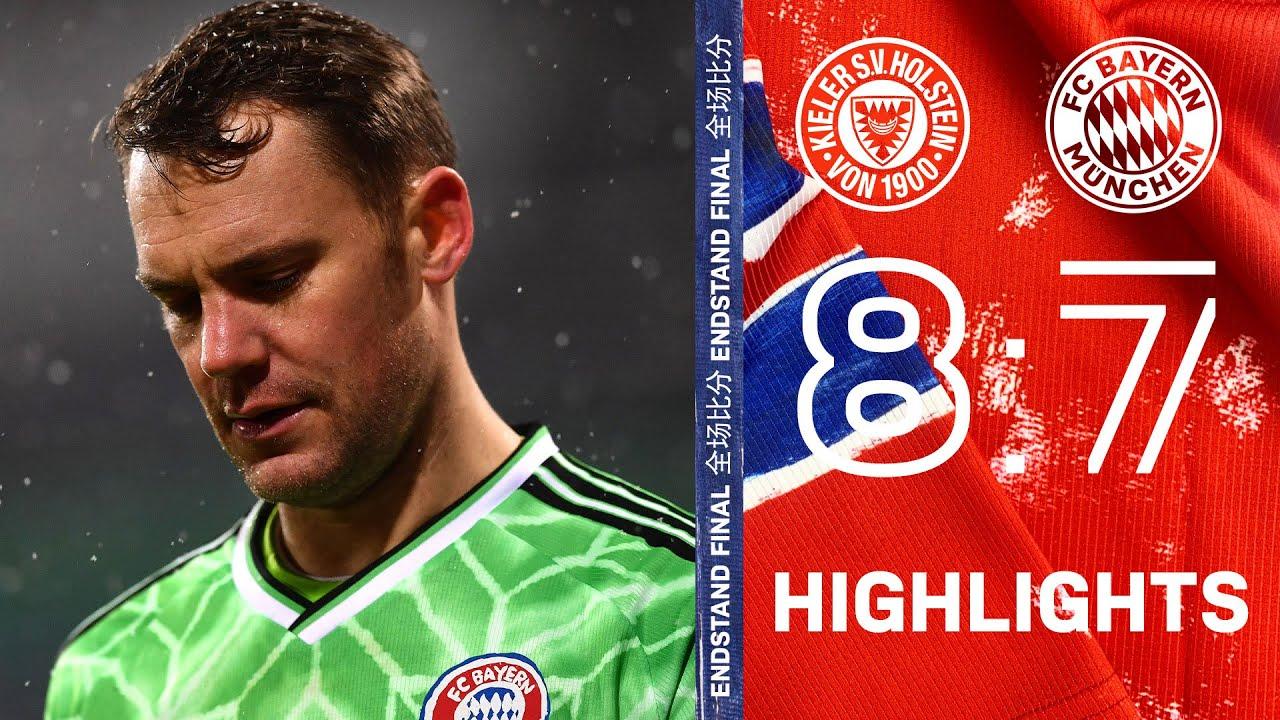 nice free kick goal by leroy sane highlights holstein kiel vs fc bayern 8 7 pens dfb pokal