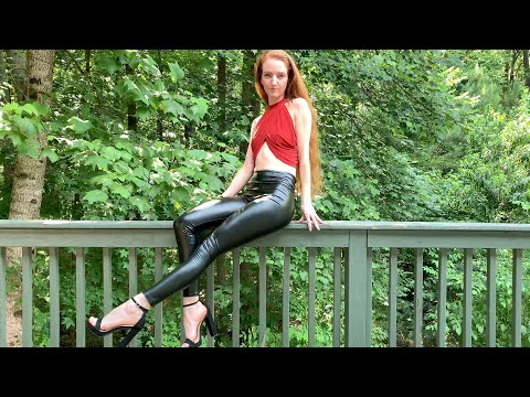 Leather Leggings & Bodysuit Outfits 4k - tradie.lady.trish from YouTube · Duration:  3 minutes 14 seconds