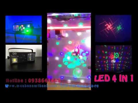 Đèn sân khấu giá rẻ LED 4 IN 1 lắp phòng karaoke, sân Khấu Ca Nhạc, Đám Cưới 0938.641.445