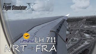 Lufthansa LH711 | Airbus A380 | Tokyo to Frankfurt [FSX HD]