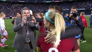Julie Ertz's Postgame reaction about her husband going to the Super Bowl