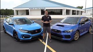 Is the 2020 Honda Civic Type R a BETTER performance car than a Subaru WRX STI Type RA?