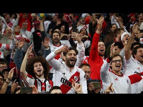 شاهد: جماهير ريفر بليت الأرجنتيني تشعل مدريد احتفالاً بالفوز على بوكا جونيورز…  - نشر قبل 2 ساعة