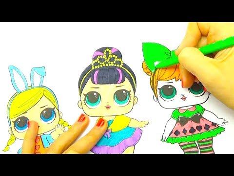 Коллекция кукол Лол Новые куклы Лол раскраска From Youtube ...
