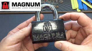 (1318) Magnum Dimple Padlock Picked Open