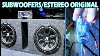 Instalacion de Amplificador y 2 Subwoofers a Estereo Original (conv. alta y baja)