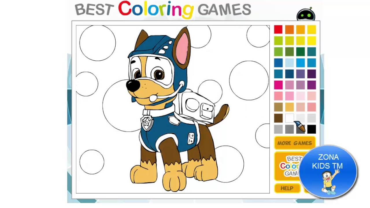 Dibujos Para Colorear Patrulla Canina Chase: Colorear Dibujos Kit De Actividades Para Niños PINTANDO A