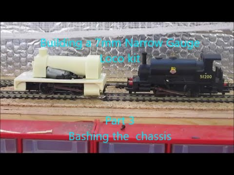 Building a 7mm Narrow gauge loco kit – Pt3 Bashing the chassis