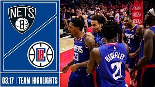 Clippers vs. Nets Game Highlights | 3/17