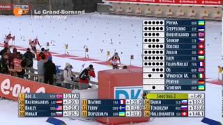 Биатлон Мужчины Гонка преследования 12,5 км. 15 декабря 2013 г. Аннеси Франция