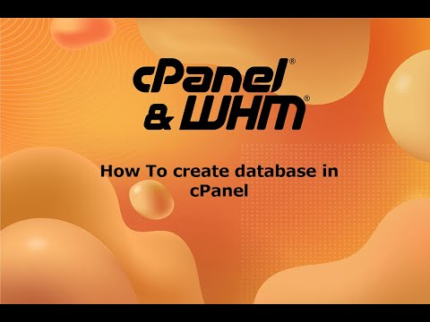 How to create database and give access to a user in cPanel