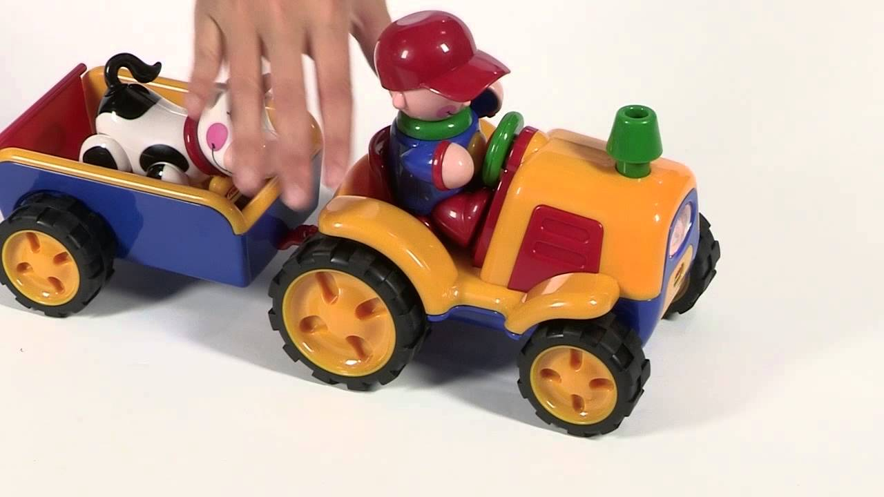 Tolo Toys First Friends Tractor Trailer Demo Youtube