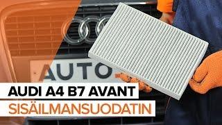 Kuinka vaihtaa raitisilmasuodatin AUDI A4 B7 AVANT -merkkiseen autoon OHJEVIDEO | AUTODOC