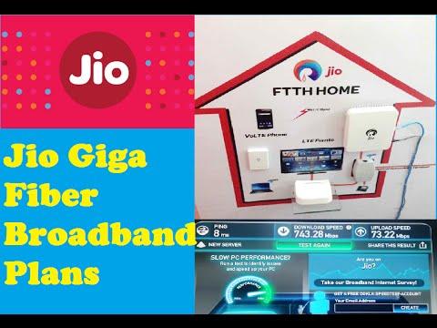Reliance Jio Giga Fiber Broadband | Plans | Speed | Hindi