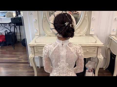 Hướng dẫn tóc Búi cao đội mấn cho cô dâu mặc áo dài trong lễ ăn hỏi by Mai Đỗ Makeup