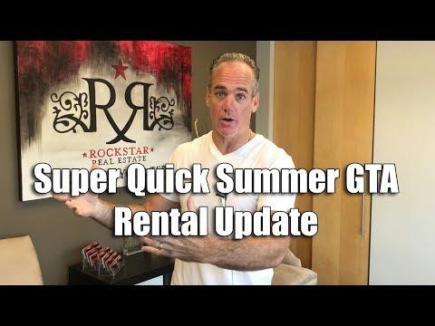 Super Quick Summer GTA Rental Update