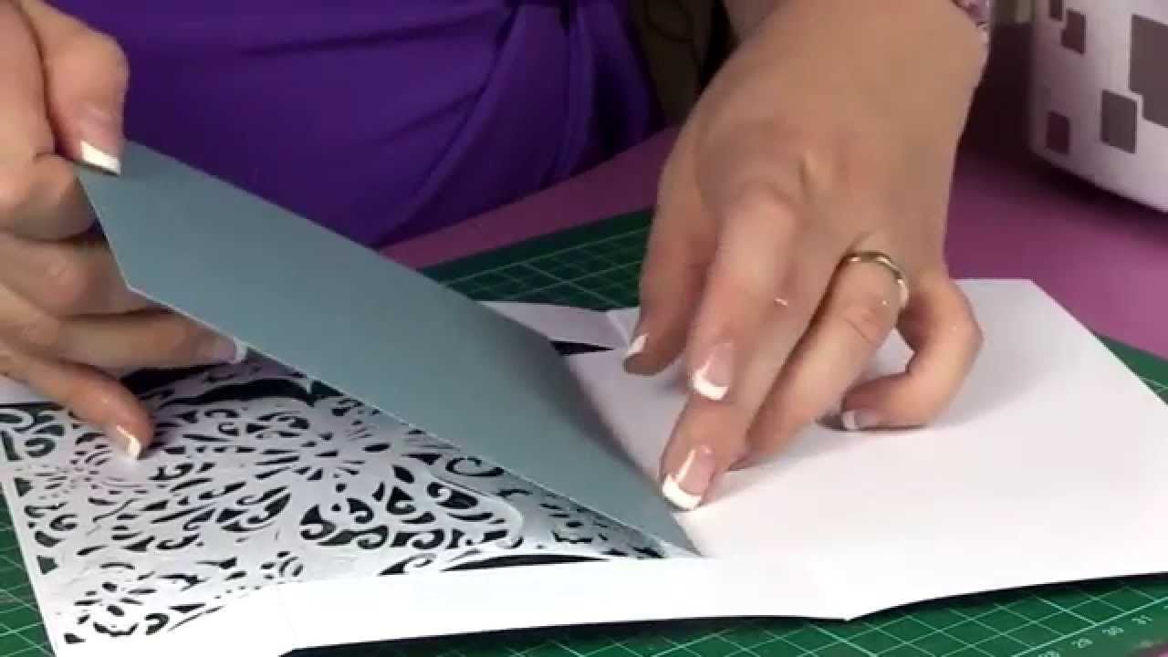 create a card lace butterfly youtube