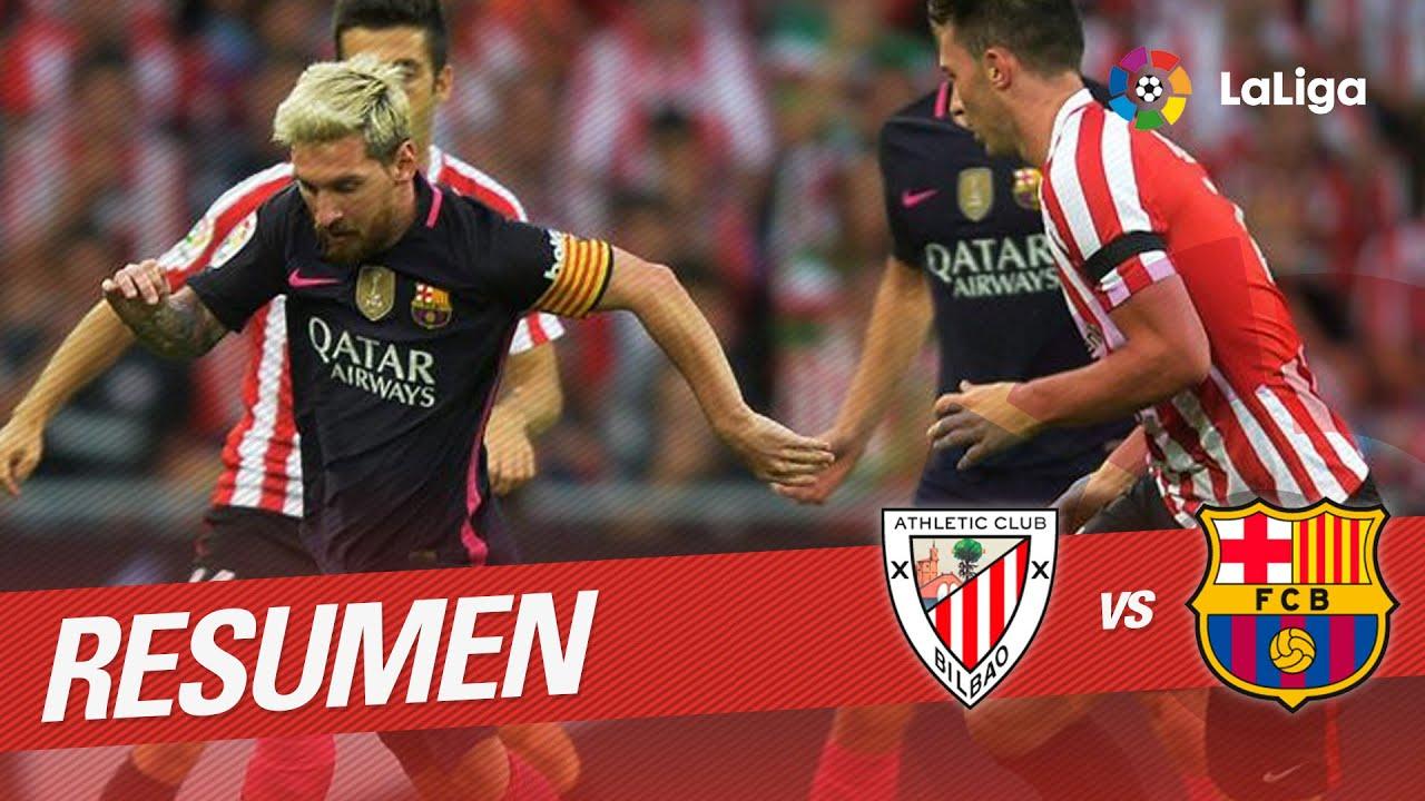 Resumen de Athletic Club vs FC Barcelona (0-1) - YouTube