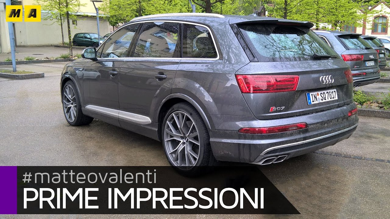 Audi SQ7 V8 - Prime impressioni - YouTube